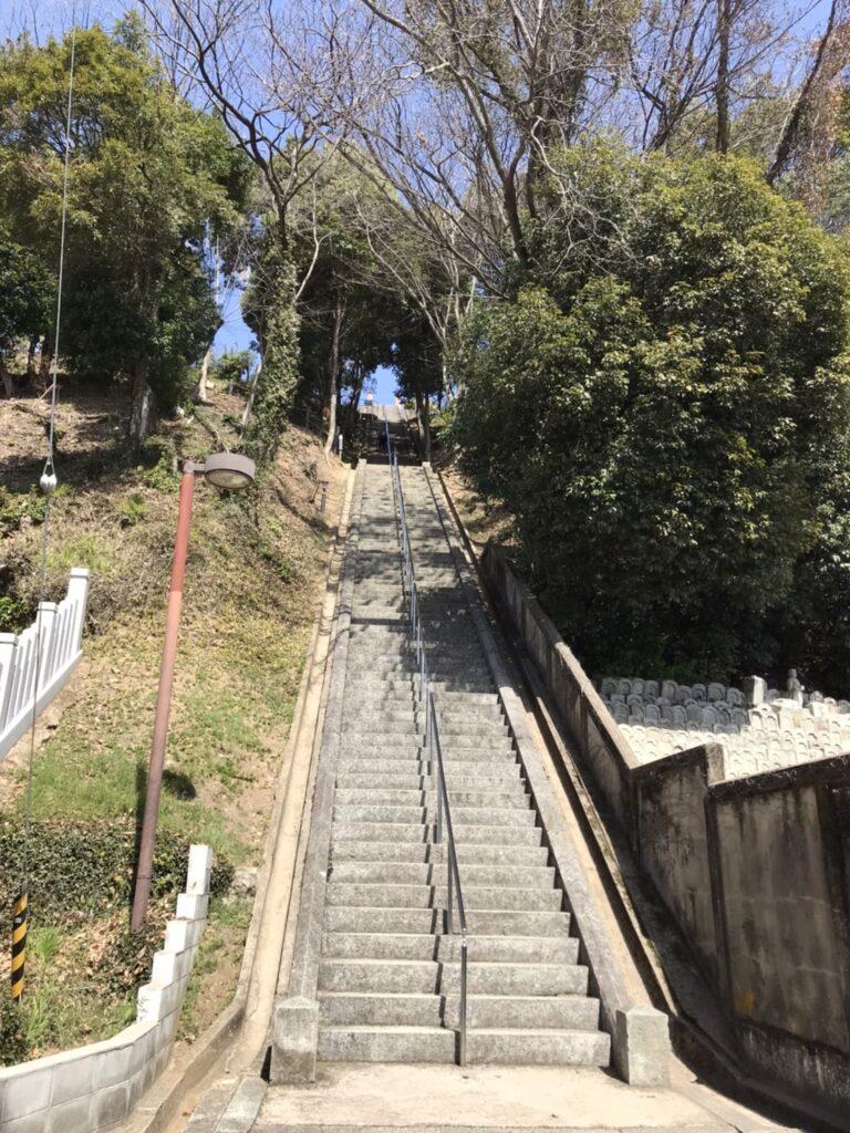 男山の階段