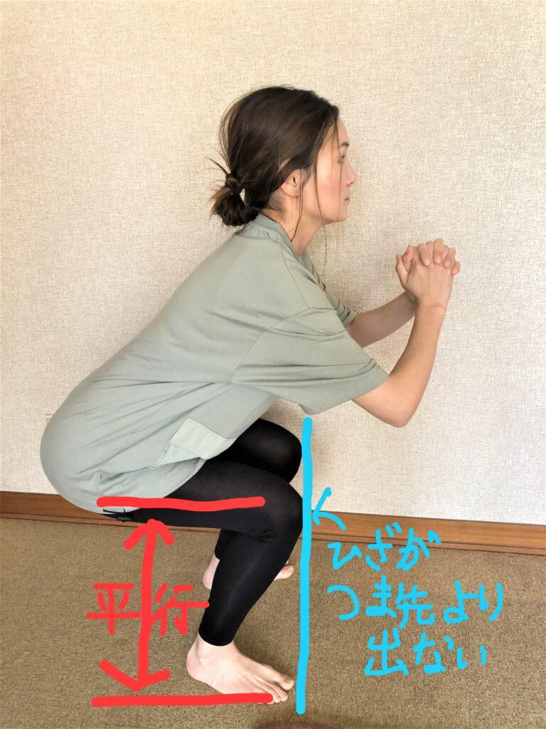 自宅で行う脚の筋トレの仕方画像
